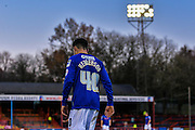 Ian Henderson during the The FA Cup match between Aldershot Town and Rochdale at the EBB Stadium, Aldershot, England on 7 December 2014.