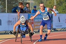06/08/2017; Mondt, Derek, T38, USA, Farrel Abby, T54 at 2017 World Para Athletics Junior Championships, Nottwil, Switzerland