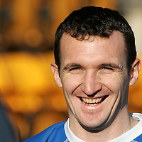 St Johnstone Training...02.02.07<br />Ex Falkirk player Andy Lawrie is all smiles during training this morning before facing his old side in tomorrow's Scottish Cup tie<br />see story by Gordon Bannerman Tel: 01738 553978 or 07729 865788<br />Picture by Graeme Hart.<br />Copyright Perthshire Picture Agency<br />Tel: 01738 623350  Mobile: 07990 594431