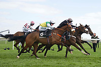 Grand National Meeting - Ladies' Day<br /> e.g. of caption:<br /> National Hunt Horse Racing - 2017 Randox Grand National Festival - Friday, Day Two [Ladies' Day]<br /> <br /> No6 High Secret ridden by Sam Tristen Davies  in the Crabbie's Top Novices' Hurdle (Grade 1) (Class 1)2m 103y, Good<br /> 9 Runners at Aintree Racecourse.<br /> <br /> COLORSPORT/WINSTON BYNORTH