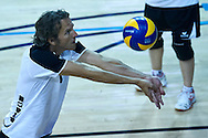 SO Germany athlete in action while Unified Volleyball match between SO Germany and SO USA New Jersey during sixth day of the Special Olympics World Games Los Angeles 2015 on July 30, 2015 at Pauley Pavilion at UCLA (University of California Los Angeles) in Los Angeles, USA.<br /> <br /> USA, Los Angeles, July 30, 2015<br /> <br /> Picture also available in RAW (NEF) or TIFF format on special request.<br /> <br /> For editorial use only. Any commercial or promotional use requires permission.<br /> <br /> Adam Nurkiewicz declares that he has no rights to the image of people at the photographs of his authorship.<br /> <br /> Mandatory credit:<br /> Photo by © Adam Nurkiewicz / Mediasport