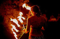 A fire dancer at the wedding of Eric Parsons & Adriana Trujillo, Saturday Sept. 29, 2012.