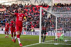 19-11-2017 NED: FC Utrecht - Excelsior, Utrecht<br /> Willem Janssen #14 of FC Utrecht scoort de 3-0