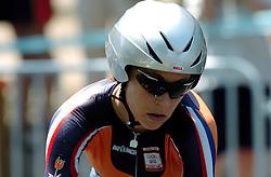 18-08-2004 WIELRENNEN: TIJDRIT OLYMPIC GAMES: ATHENE<br /> Miriam Melchers wordt 13de op de tijdrit<br /> ©2004-WWW.FOTOHOOGENDOORN.NL