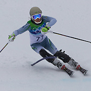 Winter Olympics, Vancouver, 2010. Maya Harrisson, Brazil, in action in the Alpine Skiing Ladies Slalom at Whistler Creekside, Whistler, during the Vancouver Winter Olympics. 24th February 2010. Photo Tim Clayton