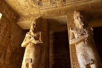 Hieroglyphics, The Great Temple, Abu Simbel (archaeological site) on Lake Nasser, Egypt