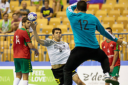 Tim Matthes of Germany during handball match between National teams of Germany and Portugal in game for Third place of 2018 EHF U20 Men's European Championship, on July 29, 2018 in Arena Zlatorog, Celje, Slovenia. Photo by Urban Urbanc / Sportida
