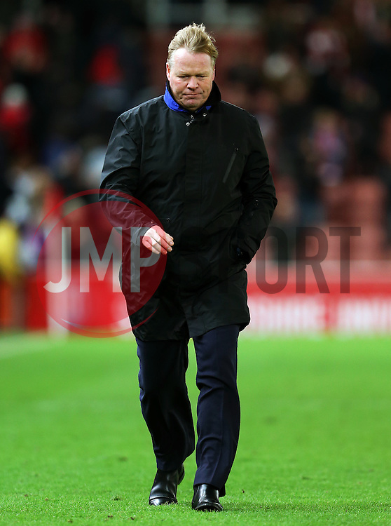 Everton manager Ronald Koeman looks dejected at full time - Mandatory by-line: Matt McNulty/JMP - 01/02/2017 - FOOTBALL - Bet365 Stadium - Stoke-on-Trent, England - Stoke City v Everton - Premier League