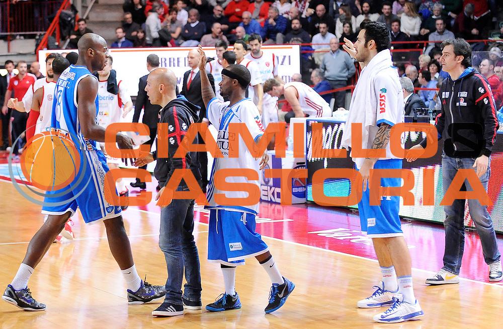 DESCRIZIONE : Varese Campionato Lega A 2013-14 Cimberio Varese Banco di Sardegna Sassari<br /> GIOCATORE : Caleb Green<br /> CATEGORIA : Esultanza<br /> SQUADRA : Banco di Sardegna Sassari<br /> EVENTO : Campionato Lega A 2013-14<br /> GARA : Cimberio Varese Banco di Sardegna Sassari<br /> DATA : 23/02/2014<br /> SPORT : Pallacanestro <br /> AUTORE : Agenzia Ciamillo-Castoria/A.Giberti<br /> Galleria : Campionato Lega A 2013-14  <br /> Fotonotizia : Varese Campionato Lega A 2013-14 Cimberio Varese Banco di Sardegna Sassari<br /> Predefinita :