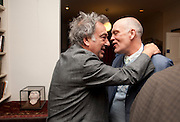 STEPHEN FREARS; JOHN MALKOVICH, Freud Museum dinner, Maresfield Gardens. 16 June 2011. <br /> <br />  , -DO NOT ARCHIVE-© Copyright Photograph by Dafydd Jones. 248 Clapham Rd. London SW9 0PZ. Tel 0207 820 0771. www.dafjones.com.