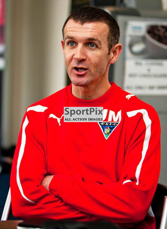 The Clydesdale Bank Scottish Premier League, Season 2011/12.Dunfermline Athletic Football Club - Pre match news conference..26-01-12...Jim McIntyre talks to the pres in this afternoons Dunfermline Athletic FC Pre match news conference ahead of their game against Aberdeen...At Pitreavie- Dunfermline Academy of sport, Dunfermline...Picture, Craig Brown ..Thursday 26th January 2012.