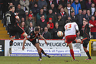 Picture by David Horn/Focus Images Ltd +44 7545 970036.16/03/2013.Dani Lopez of Stevenage gets an early shot away during the npower League 1 match at the Lamex Stadium, Stevenage.