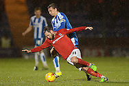 Jim O'Brien of Coventry City does battle with Alex Gilbey during the Sky Bet League 1 match between Colchester United and Coventry City at the Weston Homes Community Stadium, Colchester<br /> Picture by Richard Blaxall/Focus Images Ltd +44 7853 364624<br /> 14/11/2015