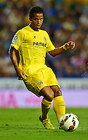 VALENCIA, SPAIN - AUGUST 24:  Giovani Dos Santos of Villarreal CF in action during the la Liga match between Levante UD and Villarreal CF at Ciutat de Valencia on August 24, 2014 in Valencia, Spain.  (Photo by Manuel Queimadelos Alonso/Getty Images)