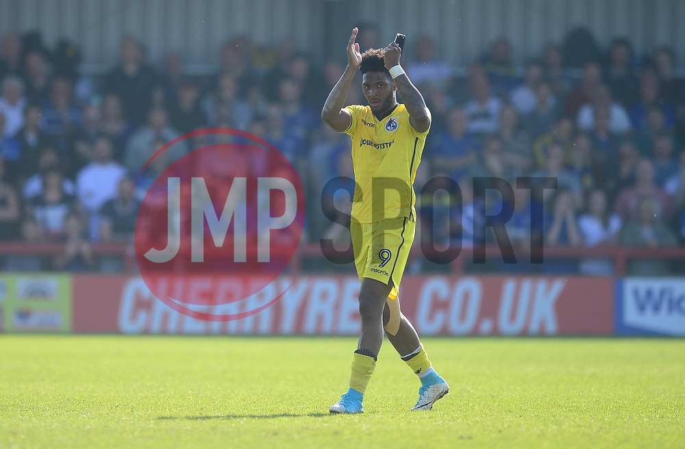 Ellis Harrison of Bristol Rovers claps the traveling fans. - Mandatory by-line: Alex James/JMP - 08/04/2017 - FOOTBALL - Cherry Red Records Stadium - Kingston upon Thames, England - AFC Wimbledon v Bristol Rovers - Sky Bet League One