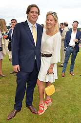 ANTON RUPERT and his sister HANNELI RUPERT at the Cartier Queen's Cup Final 2016 held at Guards Polo Club, Smiths Lawn, Windsor Great Park, Egham, Surrey on 11th June 2016.