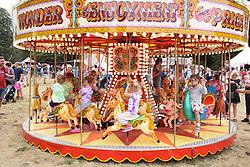 Latitude Festival, Henham Park, Suffolk, UK July 2019. Carousel in the kids area