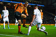 Hull City forward Jarrod Bowen (20) during the EFL Sky Bet Championship match between Leeds United and Hull City at Elland Road, Leeds, England on 10 December 2019.