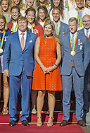 The Hague, 24-08-2016<br /> <br /> King Willem Alexander and Queen Maxima received the Dutch Olympic Medalists at Noordeinde Palace.<br /> <br /> <br /> Royalportraits Europe/Bernard Ruebsamen