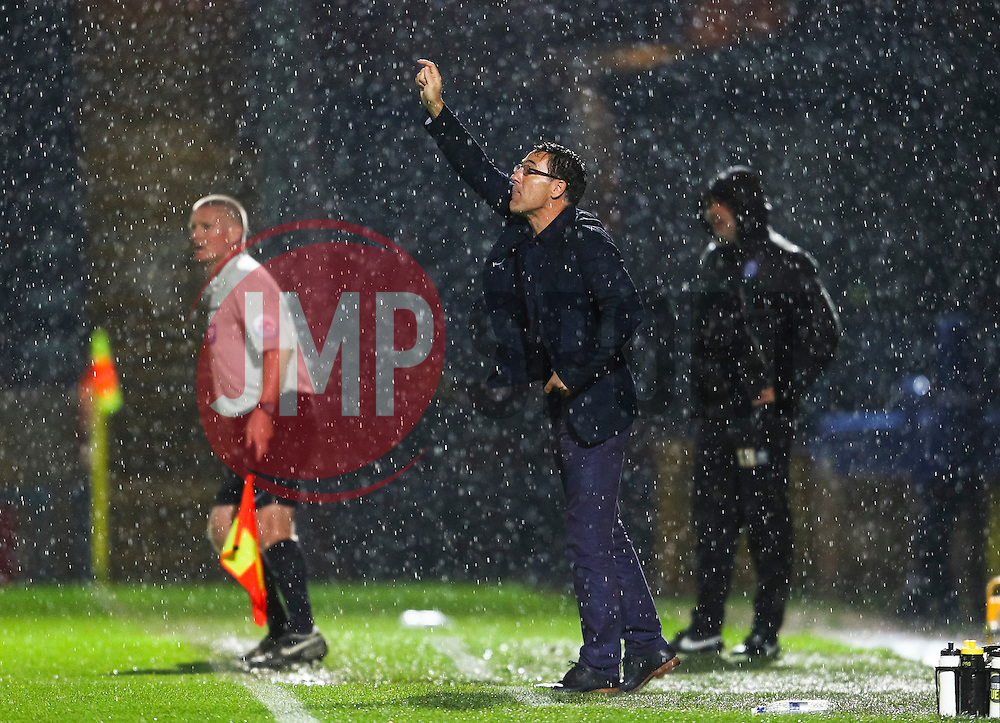 Chesterfield Manager Dean Saunders gestures  - Mandatory byline: Matt McNulty/JMP - 07966 386802 - 06/10/2015 - FOOTBALL - Spotland Stadium - Rochdale, England - Rochdale v Chesterfield - Johnstones Paint Trophy
