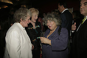 MAGGI HAMBLING, TORY LAURENCE AND MIRIAM MARGOYLES, The John Betjeman Variety Show, sponsored by Shell, in aid of Sane. In the Presnece of the Prince of Wales and the Duchess of Cornwall. Prince of Wales theatre. London. 10 September 2006. ONE TIME USE ONLY - DO NOT ARCHIVE  © Copyright Photograph by Dafydd Jones 66 Stockwell Park Rd. London SW9 0DA Tel 020 7733 0108 www.dafjones.com