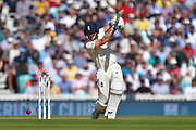 Joe Denly of England plays an attacking shot during the 5th International Test Match 2019 match between England and Australia at the Oval, London, United Kingdom on 14 September 2019.