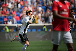 July 28, 2018 - Harrison, New Jersey, United States - Juventus forward LUCA CLEMENZA (38) celebrates his goal during the International Champions Cup at Red Bull Arena in Harrison, NJ.  Juventes defeats SL Benfica 1-1  (Credit Image: © Mark Smith via ZUMA Wire)