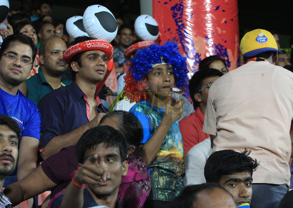 Fans during match 23 of the Pepsi Indian Premier League Season 2014 between the Delhi Daredevils and the Rajasthan Royals held at the Feroze Shah Kotla cricket stadium, Delhi, India on the 3rd May  2014<br /> <br /> Photo by Arjun Panwar / IPL / SPORTZPICS<br /> <br /> <br /> <br /> Image use subject to terms and conditions which can be found here:  http://sportzpics.photoshelter.com/gallery/Pepsi-IPL-Image-terms-and-conditions/G00004VW1IVJ.gB0/C0000TScjhBM6ikg