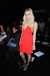 PEACHES GELDOF at the ISSA show as part of London Fashion Week 2010 held at Somerset House, The Strand, London on 23rd February 2010.
