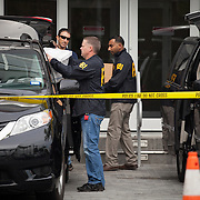 MEDLEY, FLORIDA, DECEMBER 3, 2015<br /> FBI agents carry evidence from the offices of Media World in Miami during a raid of premises. Roger Huguet, CEO of Media World, was secretly charged and pleaded guilty in connection with the FIFA investigations. (Photo by Angel Valentin/Freelance)