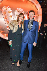SIMON & YASMIN LE BON at the Warner Music Group & Ciroc Vodka Brit Awards After Party held at The Freemason's Hall, 60 Great Queen St, London on 24th February 2016.