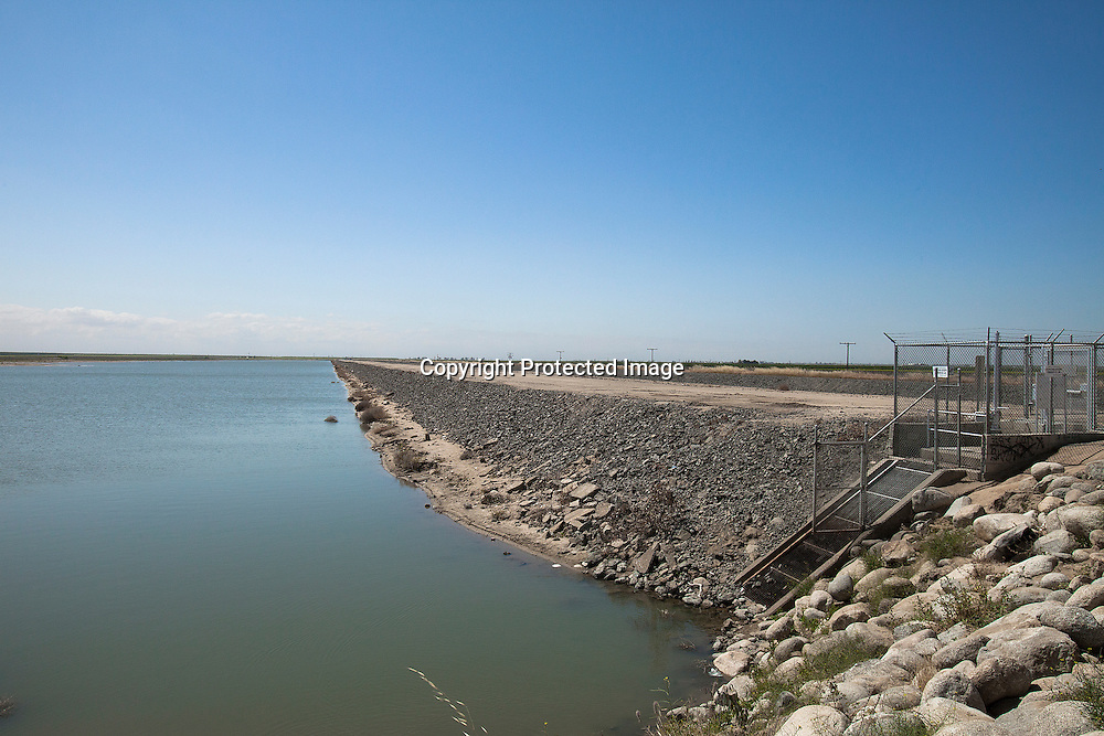 Friant-Kern Canal by Woollomes Lake located in Kern County, California