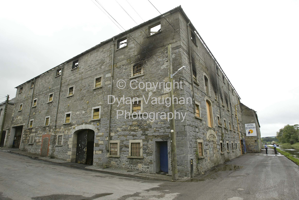 11/8/2002.The furniture store called Living Quarters which burned down in Bagenalstown County Carlow on Saturday night..Picture Dylan Vaughan