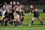 Ruaan Lerm approaches Hamish Watson during the Guinness Pro 14 2017_18 match between Edinburgh Rugby and Southern Kings at Myreside Stadium, Edinburgh, Scotland on 5 January 2018. Photo by Kevin Murray.