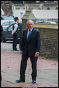 JACKIE STEWART, Memorial service for Mark Shand.  . St. Paul's Knightsbridge. September 11 2014.