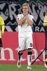 03.12.2011,  BorussiaPark, Mönchengladbach, GER, 1.FBL, Borussia Mönchengladbach vs Borussia Dortmund, im Bild.Mike Hanke (Mönchengladbach #19) entaeuscht / entäuscht / traurig..// during the 1.FBL, Borussia Mönchengladbach vs Borussia Dortmund on 2011/12/03, BorussiaPark, Mönchengladbach, Germany. Foto © nph / Mueller
