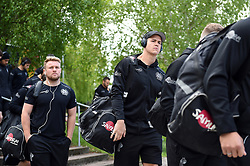 Ollie Atkins and the rest of the Exeter Chiefs team arrive at Allianz Park - Mandatory byline: Patrick Khachfe/JMP - 07966 386802 - 04/05/2019 - RUGBY UNION - Allianz Park - London, England - Saracens v Exeter Chiefs - Gallagher Premiership Rugby