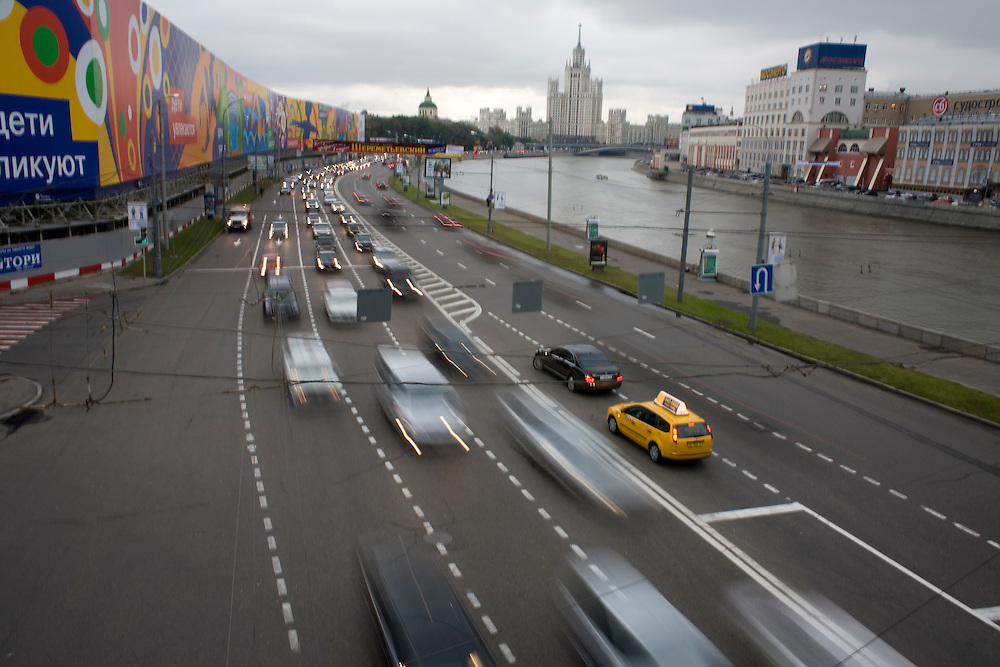 A Moscow street on September 10, 2007.