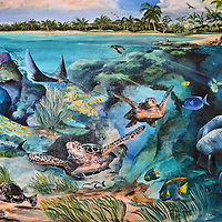 Marine Ecosystem Mural in Akumal, Mexico<br />