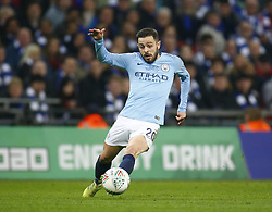 February 24, 2019 - London, England, United Kingdom - Manchester City's Bernardo Silva.during during Carabao Cup Final between Chelsea and Manchester City at Wembley stadium , London, England on 24 Feb 2019. (Credit Image: © Action Foto Sport/NurPhoto via ZUMA Press)