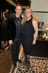 JOHN SCHLUTER Chief Brand Officer of Thomas sabo and DAME EMMA BROWN at the Thomas sabo & Professional Player cocktail reception at Thomas sabo, 65 South Molton Street, London on 30th September 2015.