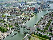 Nederland, Zuid-Holland, Rotterdam, 14-05-2020; Rotterdam-Zuid, Feijenoord. Kop van Zuid, Entrepot. Koningshaven en Noordereiland, De Hef. <br /> Rotterdam South, Feijenoord. Kop van Zuid, Entrepot. Koningshaven and Noordereiland, De Hef.<br /> <br /> luchtfoto (toeslag op standard tarieven);<br /> aerial photo (additional fee required)<br /> copyright © 2020 foto/photo Siebe Swart
