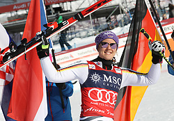 27.01.2018, Lenzerheide, SUI, FIS Weltcup Ski Alpin, Lenzerheide, Riesenslalom, Damen, Flower Zeremonie, im Bild Viktoria Rebensburg (GER) // Viktoria Rebensburg of Germany during the Flowers ceremony for the ladie's Giant Slalom of FIS Ski Alpine World Cup in Lenzerheide, Austria on 2018/01/27. EXPA Pictures &copy; 2018, PhotoCredit: EXPA/ Sammy Minkoff<br /> <br /> *****ATTENTION - OUT of GER*****