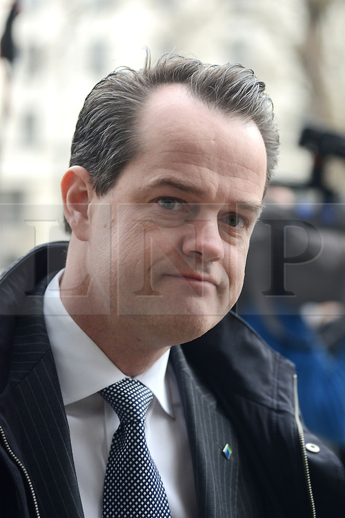 © Licensed to London News Pictures.18/02/2014. London, UK. Maurice Tulloch, CEO at Aviva arrives to Cabinet Office where insurance chiefs met with ministers to discuss their response to the flood crisis. Photo credit : Peter Kollanyi/LNP