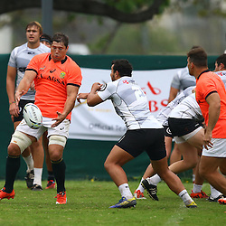 DURBAN, SOUTH AFRICA - SEPTEMBER 01: Willem Alberts during the South African national rugby team training session at Peoples Park on September 01, 2015 in Durban, South Africa. (Photo by Steve Haag/Gallo Images)