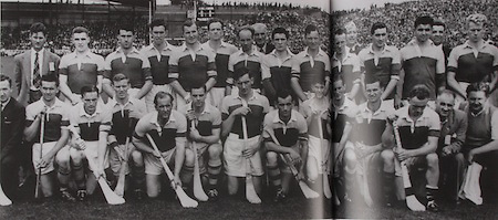 Wexford-All-Ireland Hurling Champions 1955. Back Row: Kevin Sheehan, Padge Kehoe, Jim Morrissey, Martin Codd, Nicky Rackard, Tom Ryan, Ted Bolger, Oliver Gough, Billy Wickham, Mick Hanlon, Tom Dixon, Harry O'Connor, Ned Wheeler. Front Row: Tim Russell, Tim Flood, Bobby Rackard, Jim English, Paddy Kehoe, Mick Morrissey, Nick O'Donnell (capt), Art Foley, Chris Casey, Billy Rackard, Dan Aherne, Seamus Hearne.