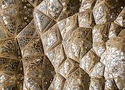 Mirrored Muqarnas (decorative corbel), Chehel Sotun, Isfahan, Iran