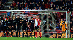 SUNDERLAND, ENGLAND - Monday, January 2, 2017: Liverpool's goalkeeper Simon Mignolet lines up his wall as the team defend a free-kick against Sunderland during the FA Premier League match at the Stadium of Light. (Pic by David Rawcliffe/Propaganda)