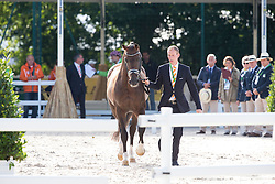 Diederik van Silfhout, (NED),  Arlando TN N.O.P. - Horse Inspection Dressage - Alltech FEI World Equestrian Games™ 2014 - Normandy, France.<br /> © Hippo Foto Team - Leanjo de Koster<br /> 25/06/14