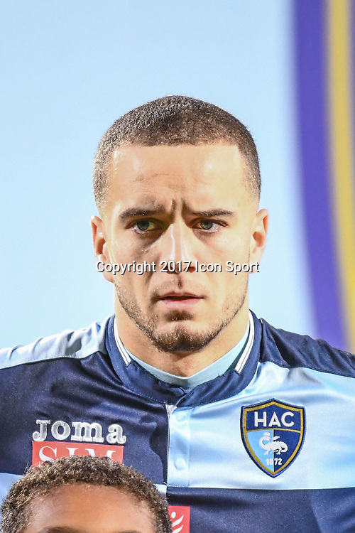 Victor Lekhal of LE Havre during the Ligue 2 match between Quevilly Rouen and Le Havre on October 27, 2017 in Rouen, France. (Photo by Anthony Dibon/Icon Sport)